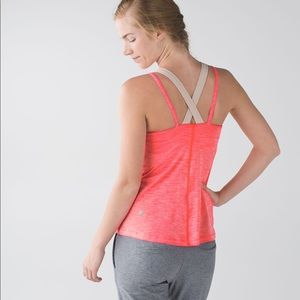 Lululemon Run For Gold Tank Heathered Coral